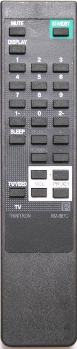 Пульт для Sony RM-687C (TV) (KV-2192M3, KV-2194MT, KV-2195M3, KV-21GPX, KV-2551, KV-2553MT, KV-2553S, KV-2584MT, KV-2585T, KV-2940S, KV-2964MT, KV-M2530, KV-M2531, KV-M2550)