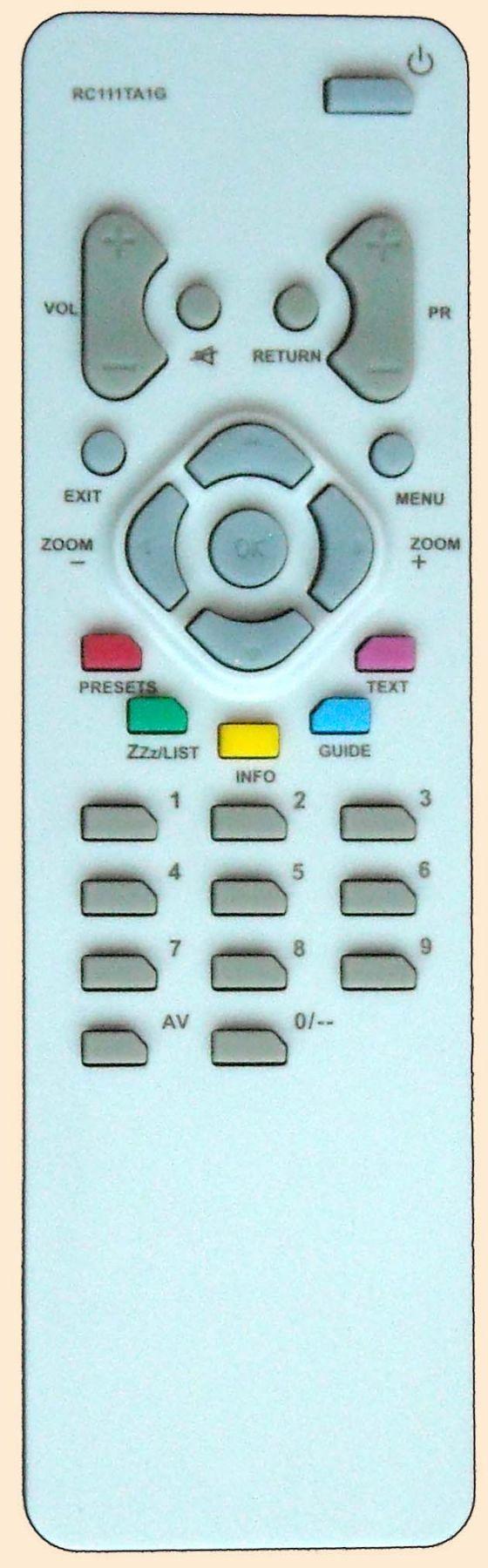 Пульт для Thomson RC111TA1G