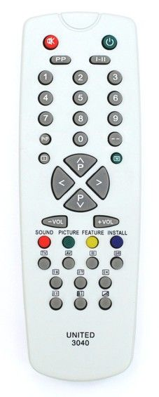 Пульт для VESTEL RC-3040 (RC2000) (TV) (Мини длина=14.5 CM)