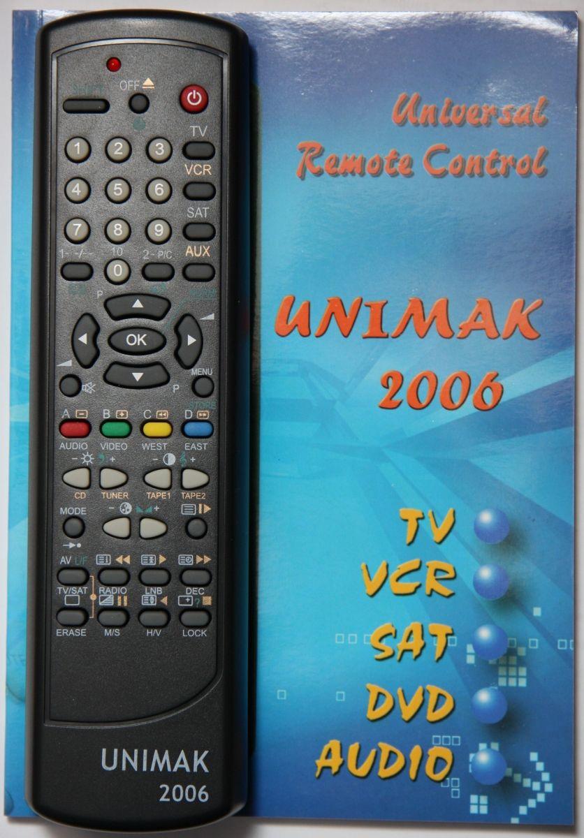 Пульт MAK MAXI 2007/UNIMAK 2006 (20 in 1)