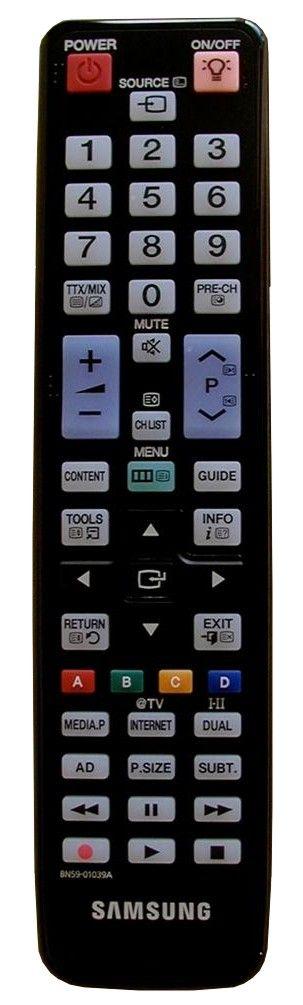 Пульт для Samsung BN59-01039A (TV) (LE-32C650, LE-32C652, LE-32C654, LE-37C650, LE-37C652, LE-37C654, LE-40C650, LE-40C652, LE-40C654, LE-46C6520, LE-46C6530, LE-46C6540, LE-46C6620, LE-55C650, UE32C6000RW, UE32C6505, UE32C6530, UE32C6540SW)