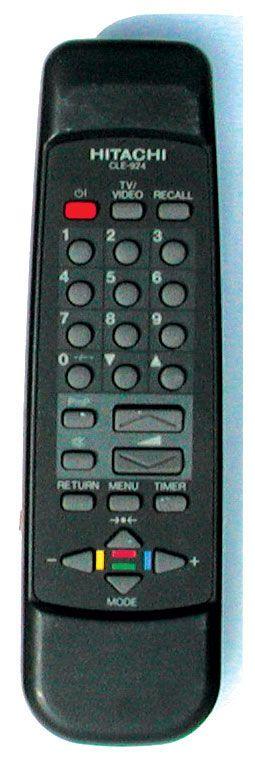Hitachi CLE-924 (TV) (C1455MN, C14P-103AVR, C14P-140AV, C14P-142R, C14P-143, C14P-163, C14P-721, C14P-840, C2055MN, C20P-761, C20P-861AVR)