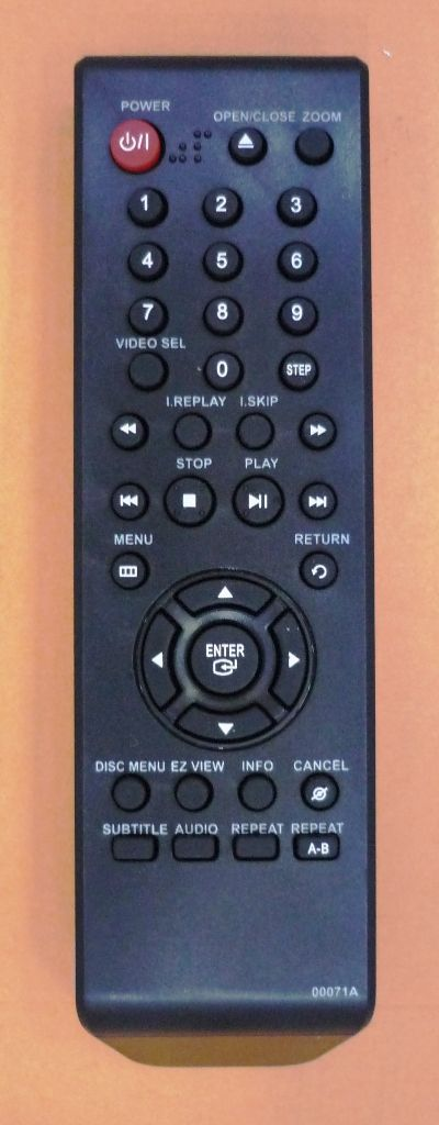 Samsung 00071A=00054B (AK59-00054B)(DVDplayer) (DVD-P171, DVD-P465)