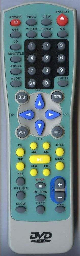 Пульт для Sitronics, Akai, Polar JX-9001 (DVD)