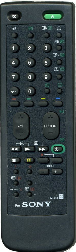 Пульт для Sony RM-841 (TV/VCR, с настройкой) (KV-1400K, KV-2100K, KV-2110QM, KV-2155K,KR, KV-2161K, KV-M1400K, KV-M1400U, KV-M1430K, KV-M2101, KV-M2151KR, KV-M2540K)