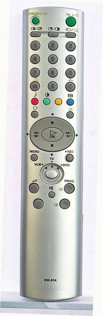 Пульты для Sony RM-934 (TV) (KE-32TS2E, KE-42TS2, KLV-15SR1, KLV-17HR1, KLV-20SR3, KV-24LS35K, KV-28CL11K, KV-28CS70, KV-29CL11K, KV-29CS60E, KV-29FX64E, KV-29FX64K, KV-29FX66E, KV-29FX66K, KV-29LS35B, KV-29LS35K, KV-29LS40, KV-29LS40K)