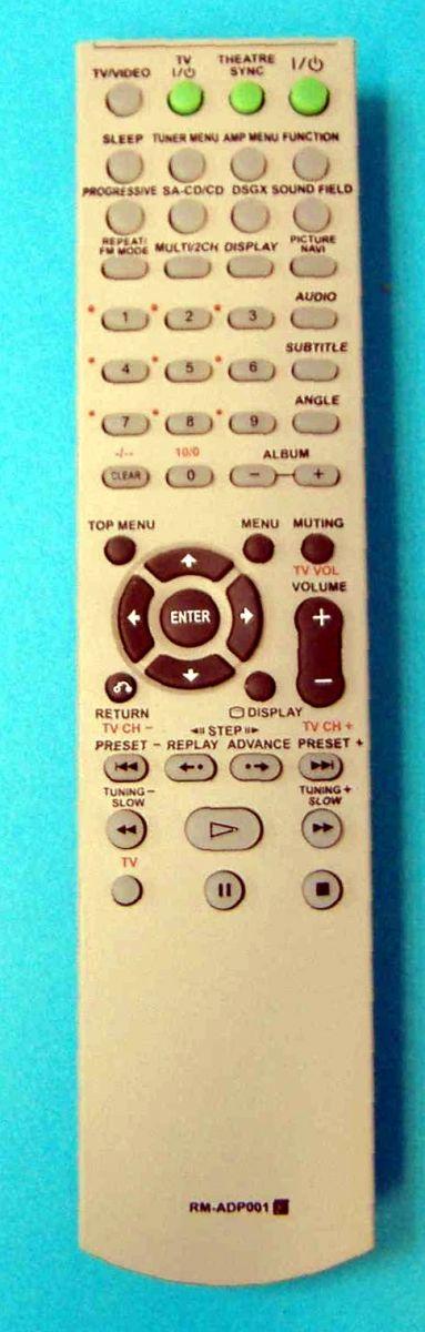 Пульт Sony RM-ADP001 (AV Sistem) (DAV-DZ300,  DAV-DZ500F, DAV-DZ700FW)