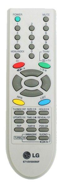 Пульт для LG 6710V00090F, 6710V00090A , 6710V00090B или 6710V00098A  (совместимые модели) (TV) (CF-14F30K, CF-20F30K, LG CF-21F30K)