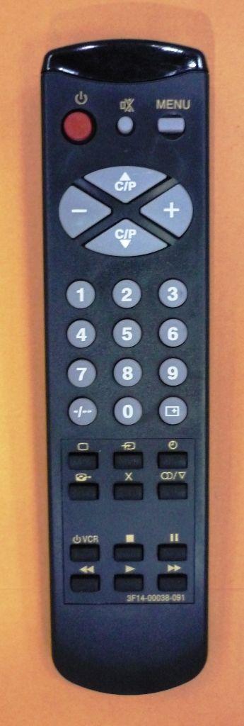 Samsung 3F14-00038-091/092/093  (TV, VCR) (3F14-00038-450, 3F14-00038-091, 3F14-00038-092, 3F14-00038-093, AA59-10015A, AA59-10015A, CK-3382ZR, CK-5079ZR, CK-5081Z, CK-5085TBR, CK-5085TR, CK-5085ZR, CK-5366ZR, CK-5379TR, CK-5379ZR, CS-3385Z)